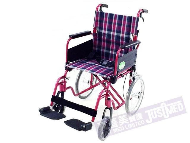 Alpha® 鋁合金助推式輪椅 (紫色)