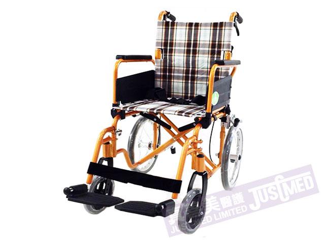 Alpha 鋁合金助推式輪椅 (橙色)