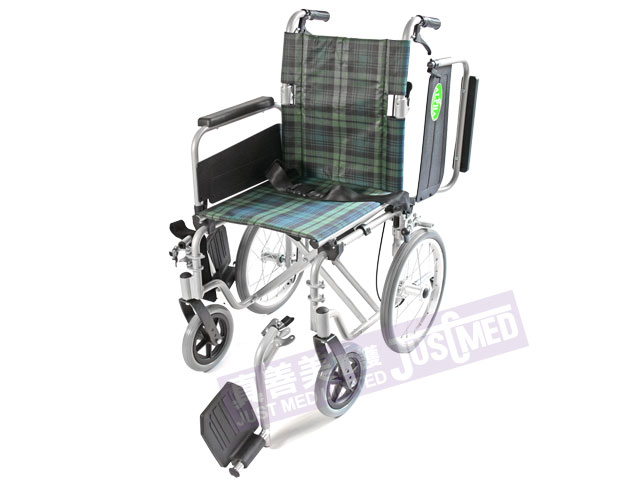 Alpha 鋁合金助推式輪椅 (綠色)