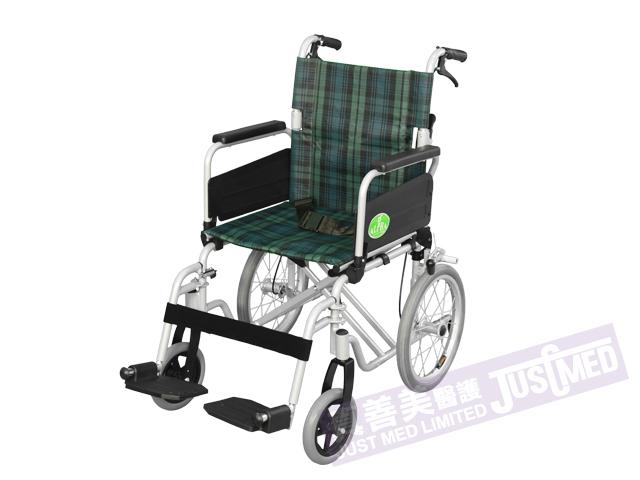 Alpha® 鋁合金助推式輪椅 (綠色)