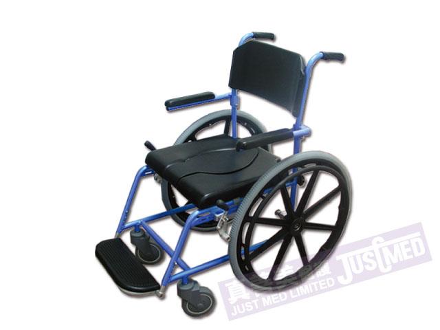 ALPHA豪華鋁合金沐浴便廁椅(大輪)